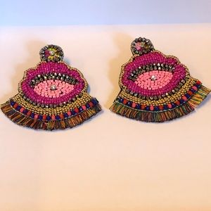 Evil Eyes Beads Earring